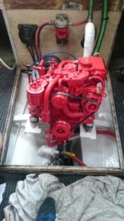 Bukh diesel install re-power
